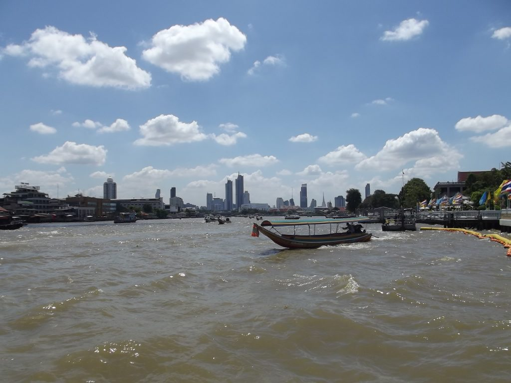 Chao Phraya River runs through Bangkok and offers additional transportation routes through this large city.