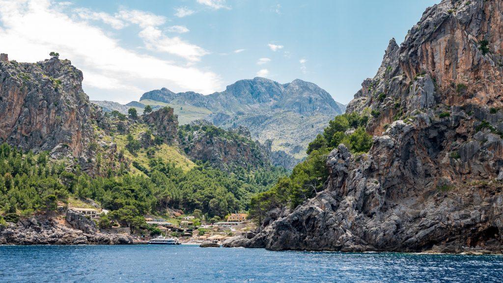 Tucked between steep rocky cliffs, Sa Calobra is a hidden gem.